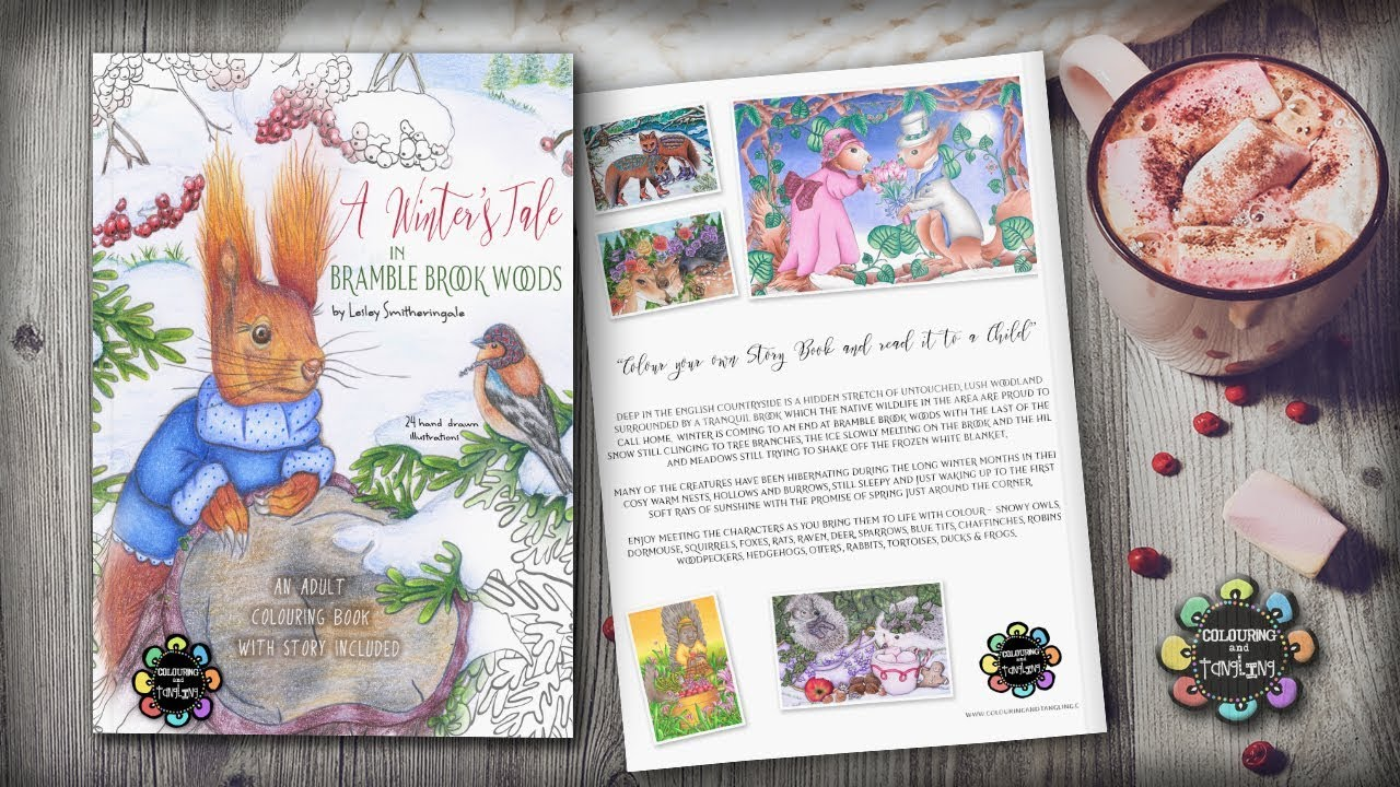 A Winters Tale In Bramble Brook Woods Adult Colouring Book Preview