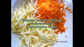 Видео рецепты - морковный салат с сыром, кукурузой, колбасой и чесноком