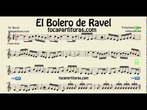 Ravels Bolero Easy Sheet Music For Flute Beginners And Recorder
