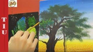 Học Vẽ Lá Đa- Kĩ thuật Chấm lá Đa Căn Bản- Mr Tiu