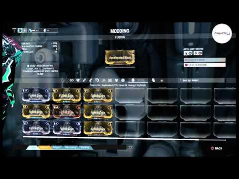 Warframe - Guide On Upgrading Mods