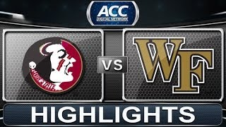 Florida State vs Wake Forest | 2014 ACC Basketball Highlights