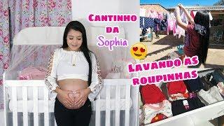 TOUR PELO CANTINHO DA BEBÊ + LAVANDO AS ROUPINHAS / grávida aos 17