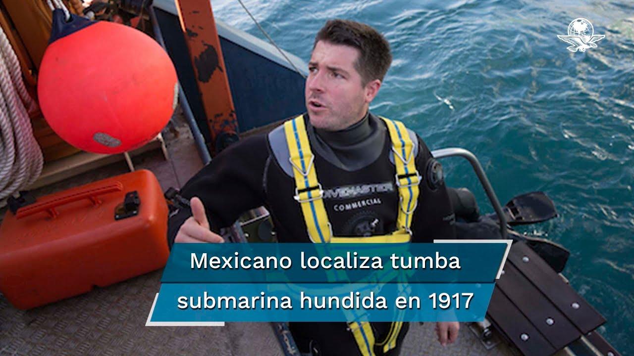 Mexicano halla submarino de la Primera Guerra Mundial