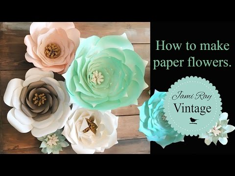 How to make paper flowers youtube mightylinksfo
