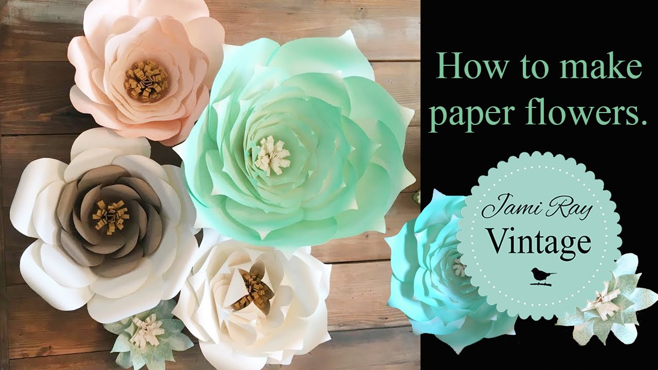 How To Make Paper Flowers Youtube