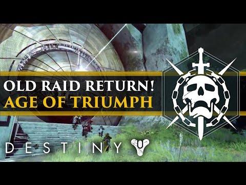 Destiny - Age of Triumph News! Year 1 Raids, Vex Mythoclast is back, New Raid Armor & Challenges!