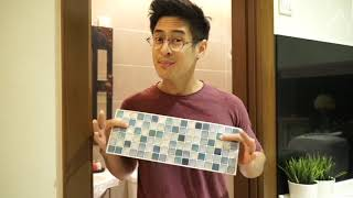 How to use BEAUS TILE STICKER - Bathroom Walls
