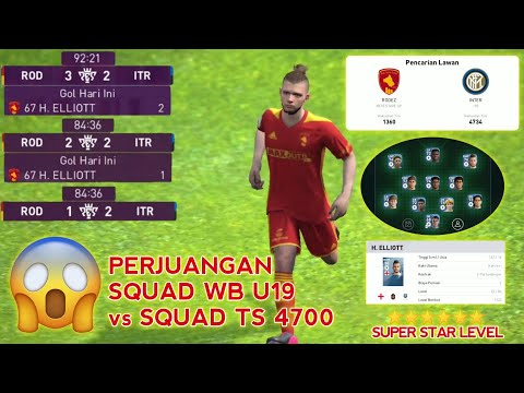 Perjuangan Squad WB U19 vs Com Super Star TS 4700 - eFootball Pes 2020 Mobile - 동영상