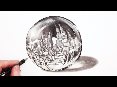 how-to-draw-in-perspective:-5-point-city