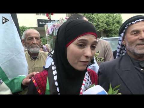 """La """"meilleure enseignante du monde"""" accueillie en grande pompe en Cisjordanie"""