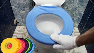 Warmer Toilet Seat Cover for Bathroom Lycra Use In O-shaped Flush Comfortable