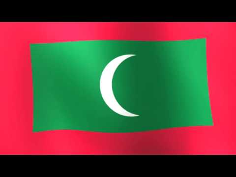 Flag of the Maldives - ދިވެހިރާއްޖެ, Dhivehi Raa'je