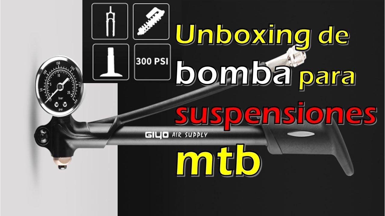 Unboxing de bomba Giyo  para calibrar suspensiones neumáticas MTB comprada en aliexpress