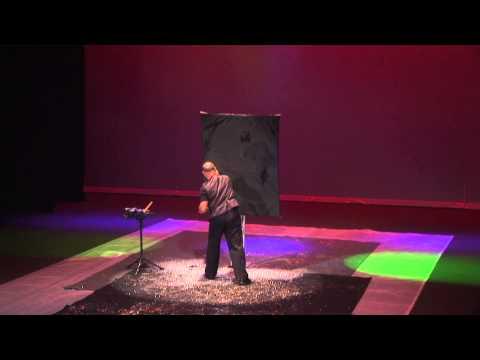 """America's Got Talent"" Robert Channing World's ONLY Speed & Glitter Painter paints Ellen DeGeneres"