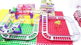 Trains For Kids - Trains For Toddlers -Train and Station Speed Build