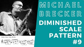 Michael Brecker Diminished Scale  Pattern #9 (ENG sub)