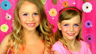 Colorful Kids Makeup Tutorial! Fun Makeup With Kids