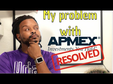 I resolve my issues with Apmex