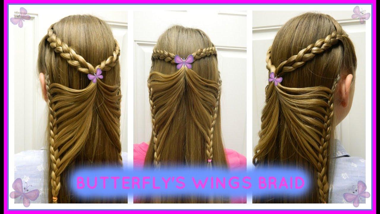 Butterflys Wings Braid Trenza Alas De Mariposa Bonita Hair Do - Imagenes-de-trenzas