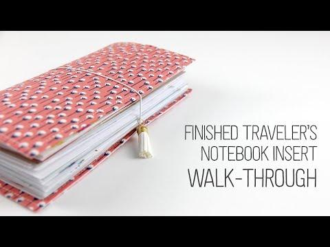Finished Traveler's Notebook Walk-through
