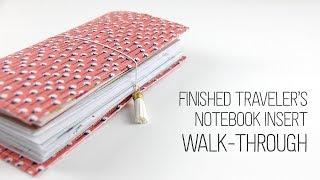Gambar cover Finished Traveler's Notebook Walk-through