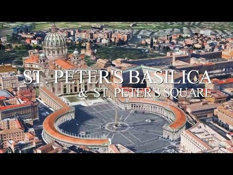 St. Peter's Basilica & St. Peter's Square in 3D