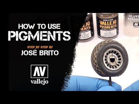 Vallejo Pigments on models and dioramas