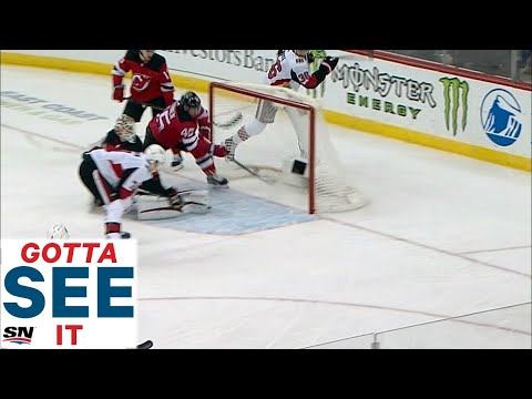 GOTTA SEE IT: Sami Vatanen's Epic Goal-Line Save Springs Kyle Palmieri And Taylor Hall For Goal