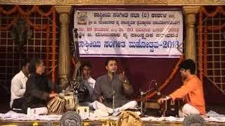 """Koushik Aithal singing Dasarapada """" Deva Banda Namma"""" at Karkala  Shstreeya sangeet Mahotsav 2013"""
