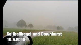 Golfballhagel mit Downburst! Gewitter 10.5.2018 (Kreis Melsungen - FULL HD)