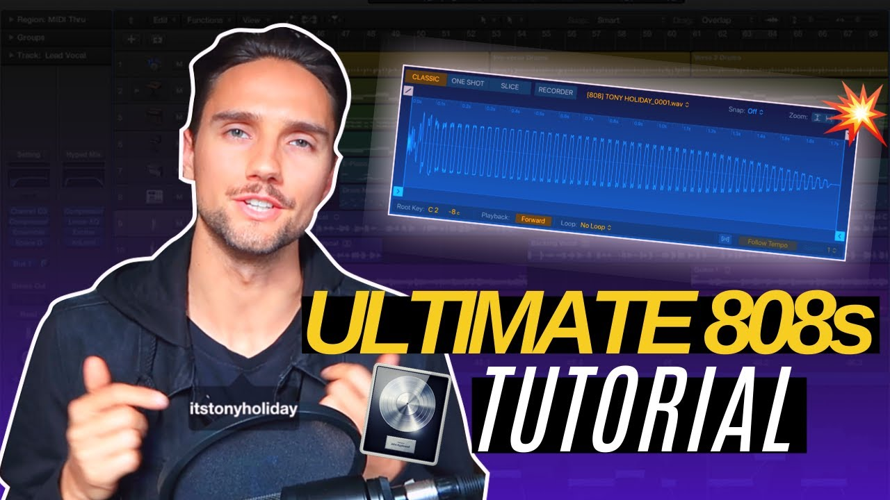 The ABSOLUTE BEST way to do 808s in Logic Pro X (10.5 UPDATE) | Q-Sampler 808 Tutorial