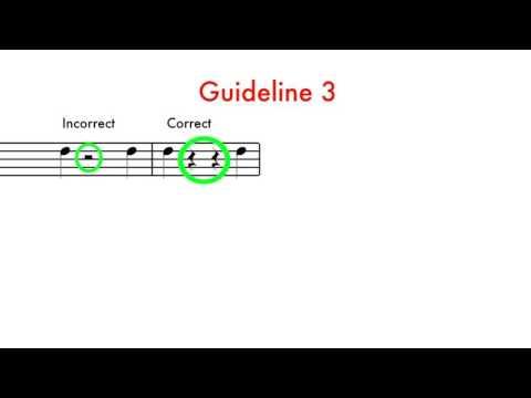 8 -  Rhythm -  Notation Guidelines