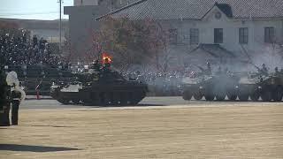 74式戦車5両 観閲行進 第10戦車大隊 守山駐屯地