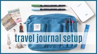Europe Travel Journal Setup + Journaling Supplies