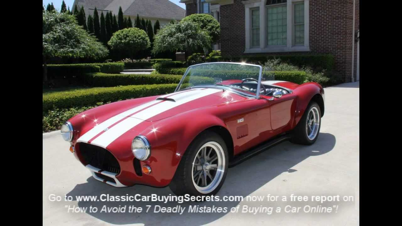 1967 Shelby Cobra Replica Classic Muscle Car for Sale in MI Vanguard ...
