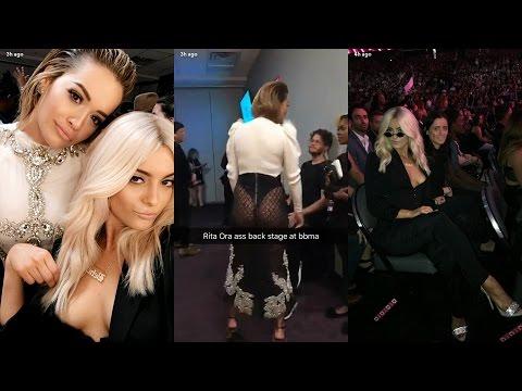 Bebe Rexha ► Snapchat Story ◄ 21 May 2017 w/ Rita Ora at Billboard Music Awards 2017