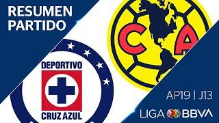 Resumen y Goles | Cruz Azul vs América | Jornada 13 - Apertura 2019 | Liga BBVA MX