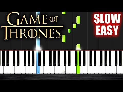 Game Of Thrones Theme - SLOW EASY Piano Tutorial by PlutaX