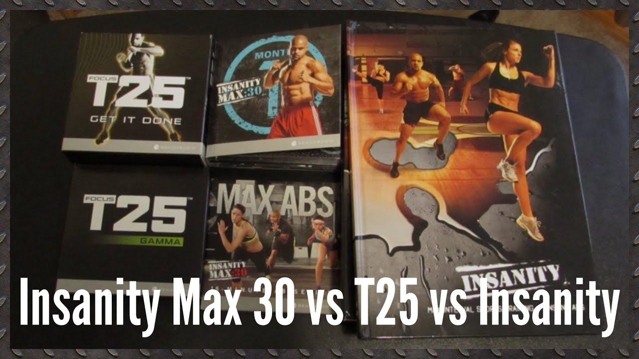 Insanity Max 30 vs Insanity vs T25 - Robert Dox