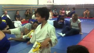 Урок дзюдо с родителями 2015