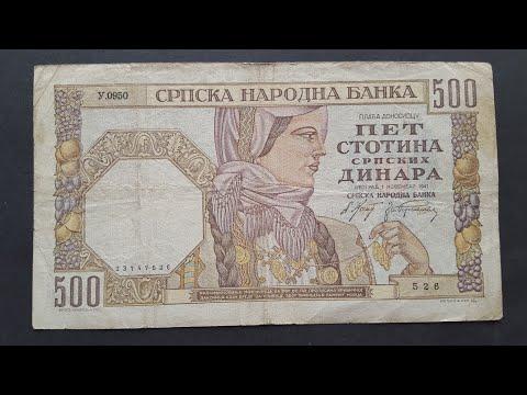 Serbias WW2 dinar banknotes
