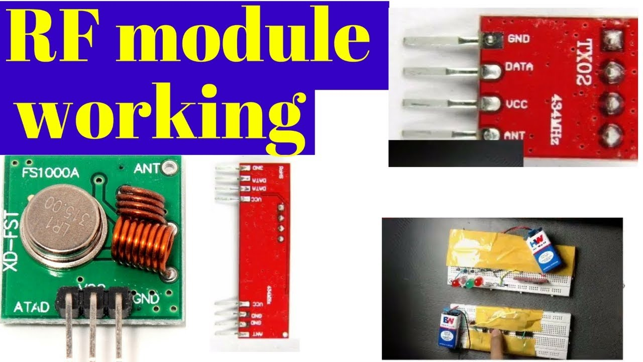 Rf Module Working Transmitter And Receiver Tutorial Youtube 433mhz 4 Channel Circuit Cy046 Buy