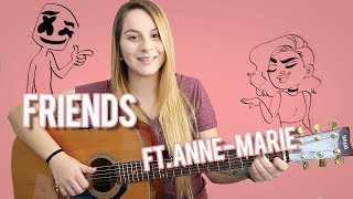 Friends   Marshmello ft. Anne-Marie   Easy Guitar Tutorial For Beginners   With Chords!