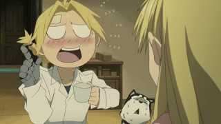 Funny Anime Moments - Fullmetal Alchemist Brotherhood - Edward Spits Coffee in Hayate
