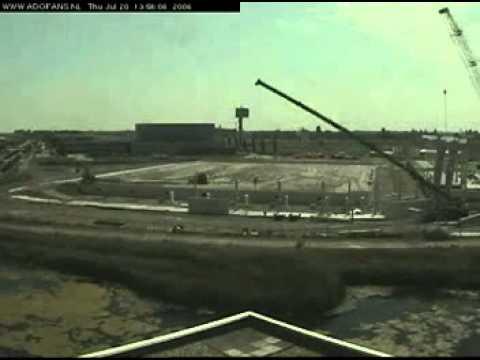 De bouw van het  ADO Den Haag / Kyocera stadion in 9 minuten