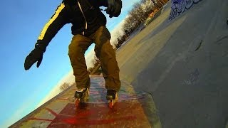 Inline Hockey Skates In A Skate Park By Bill Stoppard