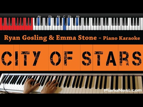 Ryan Gosling & Emma Stone - City of Stars - HIGHER Key (Piano Karaoke / Sing Along)