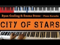 Ryan Gosling Emma Stone City Of Stars HIGHER Key Piano Karaoke Sing Along mp3