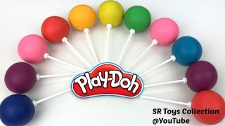 Fun Learning Colors and Numbers with Play Doh Lollipops Video for Kids
